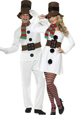 Fancy Dress Couples Outfits (Couples Ladies Mens Snowman Christmas Festive Xmas Fancy Dress Costumes)