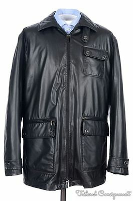 VERSACE Black Polyester ZIP OUT LINING Mens Jacket Coat - EU 54 / XL