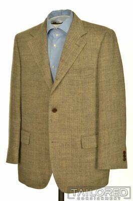 - BROOKS BROTHERS Beige Herringbone LINEN SILK Blazer Sport Coat Jacket - 42 S