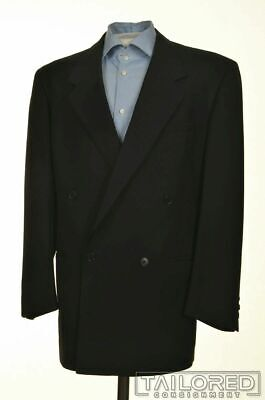 VERSACE V2 Vintage Solid Black Wool Mens Blazer Sport Coat Jacket - 40 R