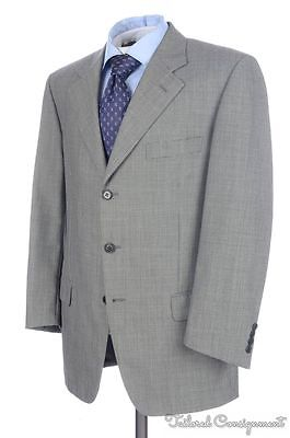 SARTORIA PARTENOPEA Solid Gray Woven 100% Wool Jacket Pants SUIT Mens - 40 R