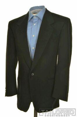 VERSACE V2 Vintage VTG Black CASHMERE WOOL Mens Blazer Sport Coat Jacket - 40 R