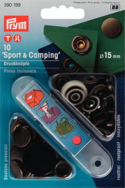 Prym Sport & Camping Druckknopf Druckknöpfe Anorak 15mm messing 390199
