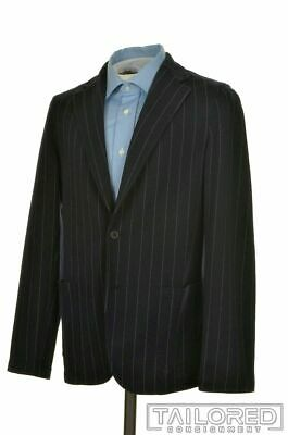CLAUDIO TONELLO JACKET T Blue Striped WOOL Blazer Sport Coat Jacket - XL / 36 R