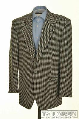 VERSACE V2 Vintage VTG Black Polka Dot Blazer Sport Coat Jacket EU 52 / US 42 R