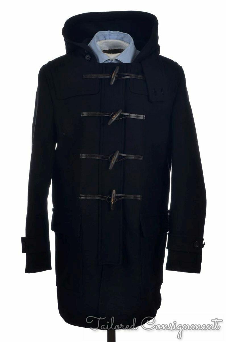 $798 COACH Crosby Black Toggle WOOL DUFFEL COAT Jacket 85238