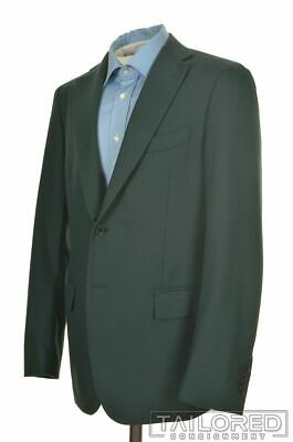 LARDINI Solid Green 100% Wool Mens Blazer Sport Coat Jacket - EU 52 / US 40 R