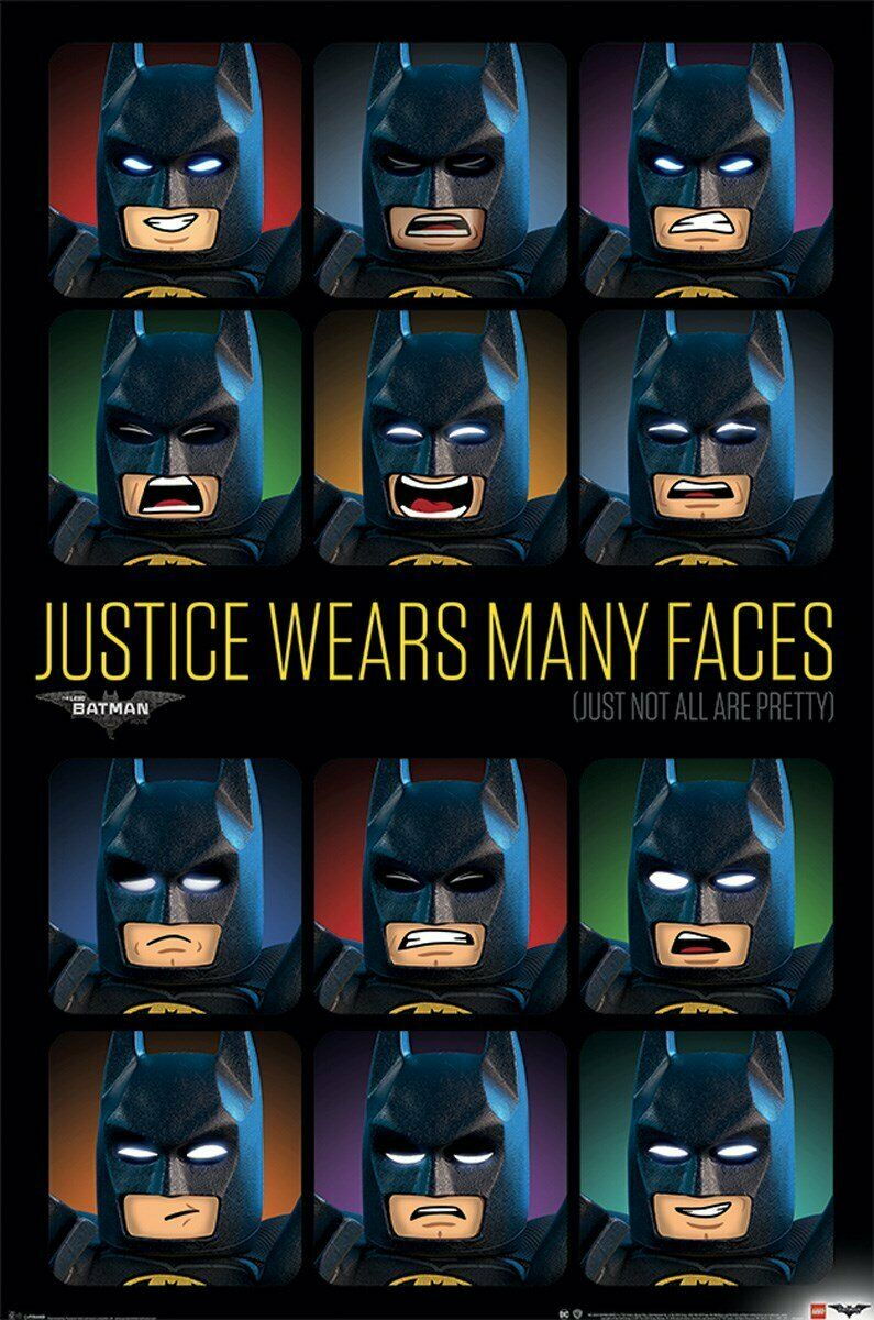 LEGO BATMAN MOVIE - JUSTICE WEARS MANY FACES POSTER 24x36 -