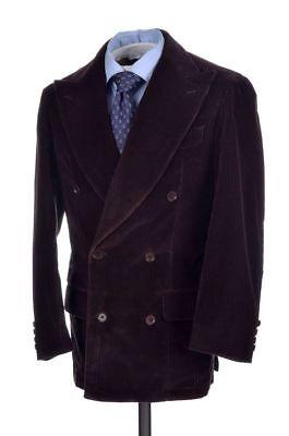 Eidos By Isaia Brown Corduroy Cotton Jacket Pants Suit Mens   Eu 46   Us 36 R