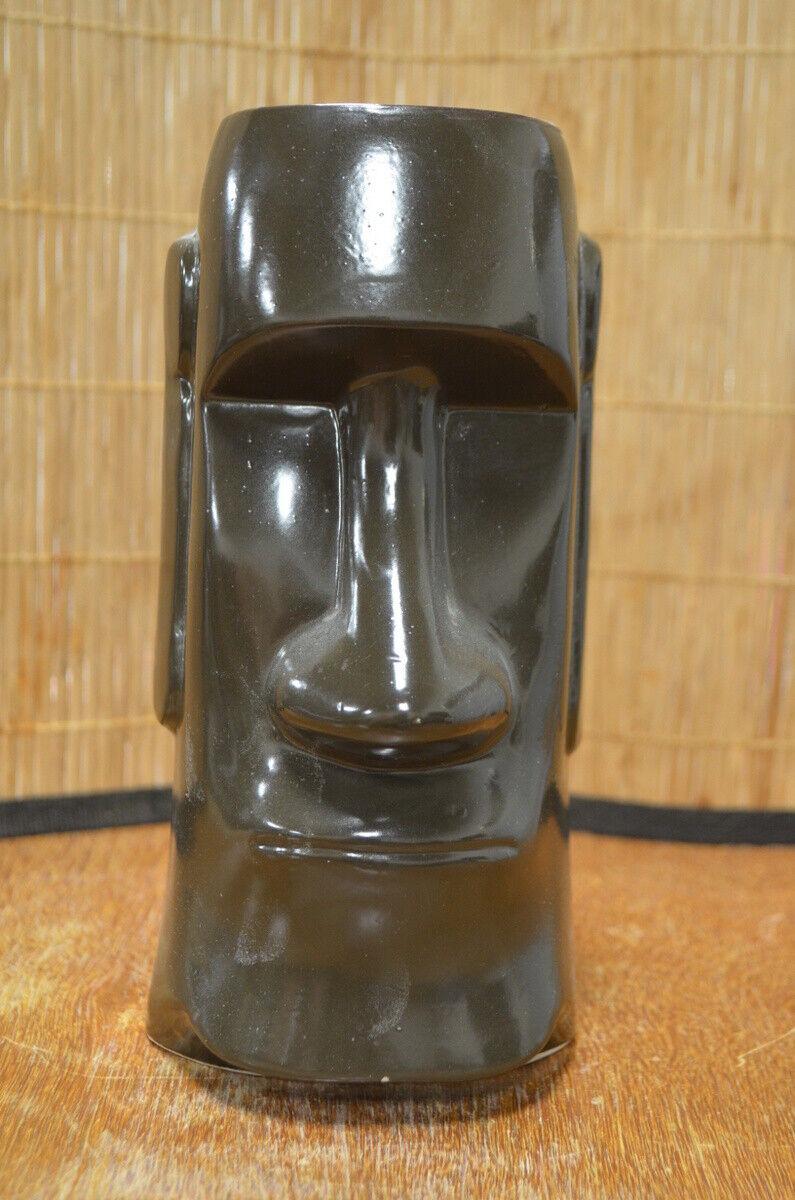 The Fireside Fort Atkinson Wisconsin Black Moai Vintage Tiki Mug OMC