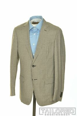 ERMENEGILDO ZEGNA Z Recent DECO Brown Check Wool Silk Blazer Sport Coat - 38 R