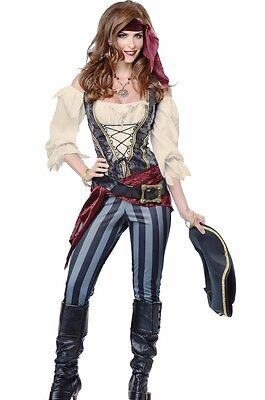 Brazen Buccaneer Costume Deluxe Female Pirate Maiden Adult Womens Wench - Fast -](Pirate Maiden Costume)