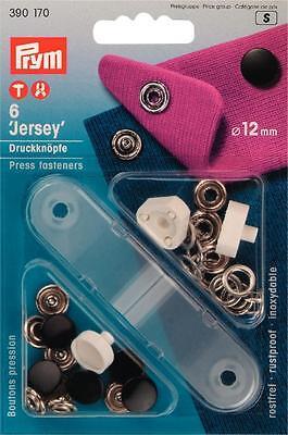 Prym Jersey Druckknopf Druckknöpfe 12mm schwarz mit Werkzeug  390170