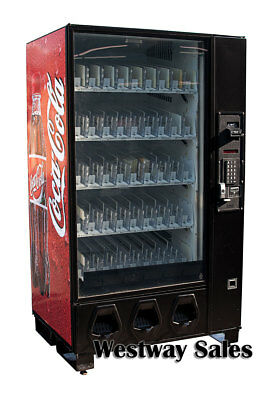 Dixie Narco Bev Max 5591 Glass Front Vending Machine W Coca Cola Graphic