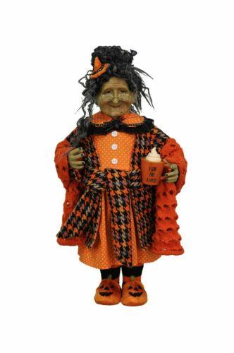 Witch FIgurine Statue Halloween Fall Latte