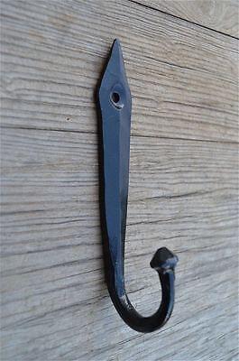 A 4.5 INCH BLACK IRON ANCIENT ENGLISH DESIGN COAT HOOK DOOR HANGER HOOK OB4