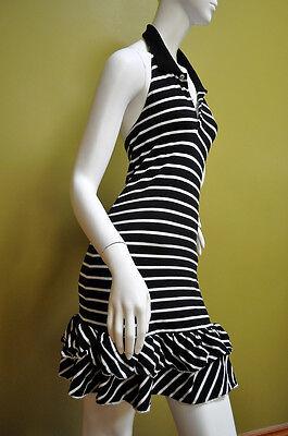 Ralph Lauren Girls Summer Halter Striped Black White Drees Size XL 16 - Drees Girl