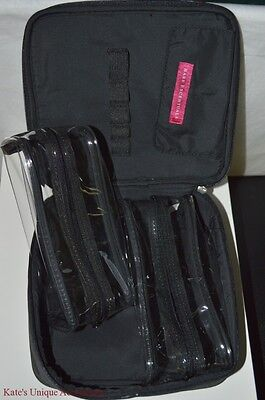 BARE ESCENTUALS BAREMINERALS LARGE COSMETICS TRAVEL BAG WITH REMOVABLE CASES NEW