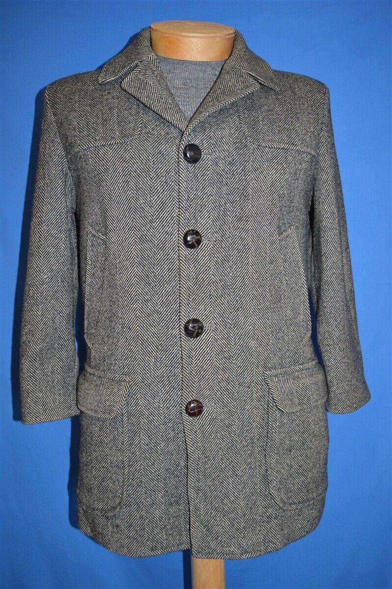 1970/'s Chevron Wool Blend Coat