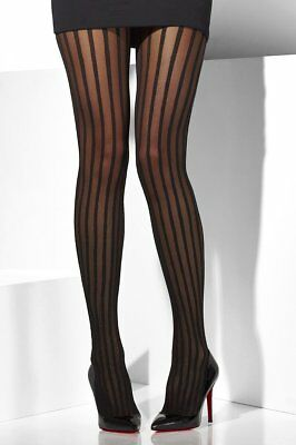 Black Tights with vertical sheer stripes](Halloween Costumes With Tight Black Dress)
