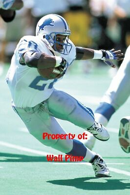 BARRY SANDERS DETROIT LIONS Poster Print 24x36 WALL Photo C (Barry Sanders Wall)