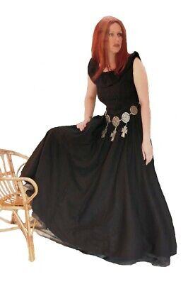 Gothic Mittelalter LARP Kleid mit Schnürung Mehna rot oder schwarz - Kostüm Mit Langen Schwarzen Kleid