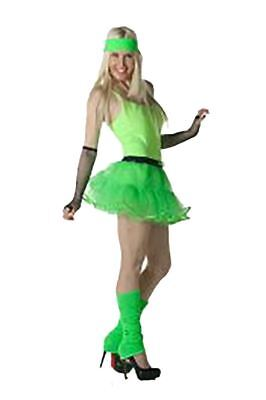 Womens 80s Theme Party Neon Costume Ladies Hen Night Stag Do Fancy Dress - 80s Themed Outfits