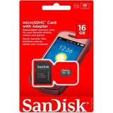 NEW SANDISK 16GB Class 4 MicroSD MicroSDHC SD SDHC TF FLASH MEMORY CARD ADAPTER