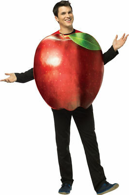 Morris Costumes Get Real Apple Adult One Size. GC6830 (Apple Costumes)