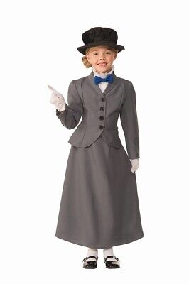 Mary Poppins Costume For Girl (English Nanny Mary Poppins Child Girls Costume)