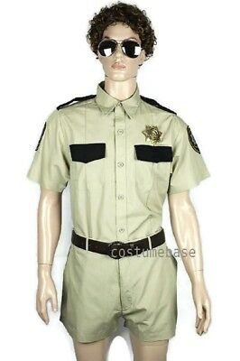 Reno 911 Costumes (RENO 911 DELUXE COSTUME LT DANGLE MEN Top Shorts Sunglasses Badge)
