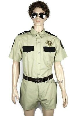 RENO 911 DELUXE COSTUME LT DANGLE MEN Top Shorts Sunglasses Badge