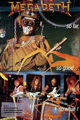Megadeth 1987 So Far, So Good Original Promo Poster