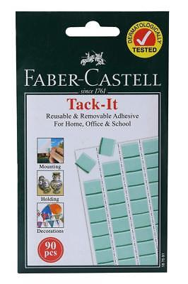 Light Tack Adhesive - Faber-Castell Tack-It - 90 pieces (Light Green) Removable and Reusable Adhesive