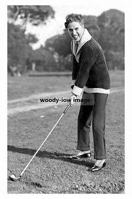rp10618 - Silent Film Actor - Charlie Chaplin plays Golf - photograph 6x4