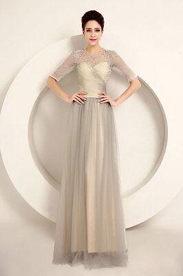 abito donna cerimonia damigella vestito evening dress vestido dama de honor w30b