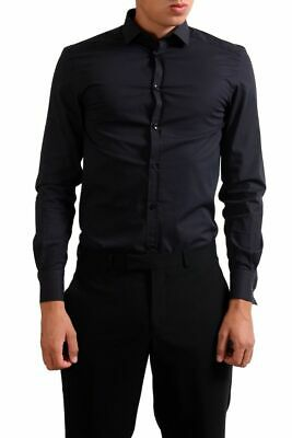 "Versace Collection ""Trend"" Black Striped Men's Dress Shirt US 15 IT 38"