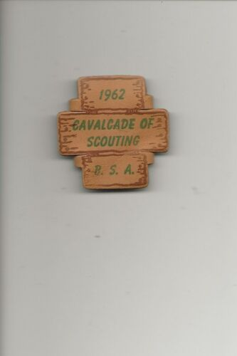 LEATHER  NC  SLIDE / 1962 CAVALCADE of SCOUTING - Boy Scout BSA /7-18