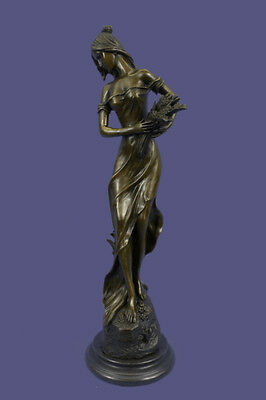 Original Signed Bronze Art Figure Sculpture Statue Demeter Ceres Harvest Goddess