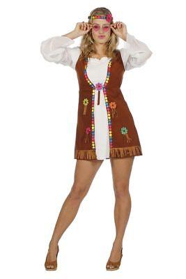 WIL - Damen Kostüm Hippie 60er Jahre Flower Power Karneval