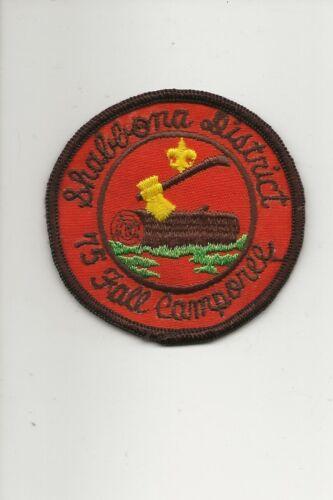 RAINBOW  COUNCIL / 1975 SHABBONA DISTRICT patch - Boy Scout BSA A132/7-4