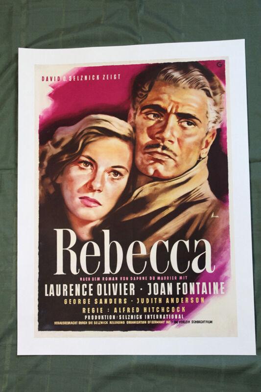 "Rebecca (Germany, 1940) 33"" x 24"" Movie Poster"
