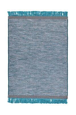 Alfombra Elegante Alfombra con Flecos Alfombrilla Gris Azul 170x240cm