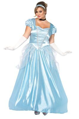 Classic Long Cinderella Halloween Storybook Roleplay Costume LA85518x Plus 3x/4x - 3x Halloween Costume Womens