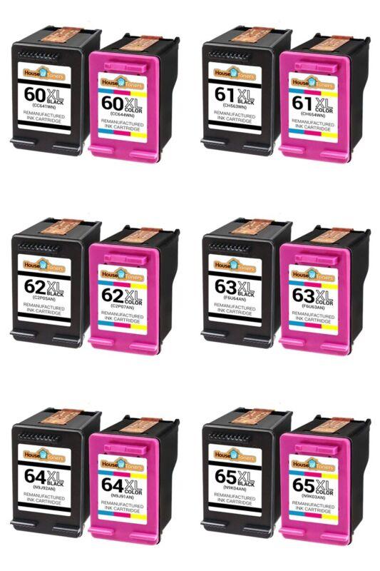 Ink Cartridge Black & Color For HP 61XL 62XL 63XL 64XL 65XL