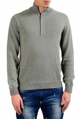 Malo Men's Cashmere Silk Gray 1/2 Zip Sweater US M IT 50