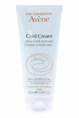 Avene Cold Cream Nourishing Body Lotion 100 ml Dry Sensitive Skin Free Ship