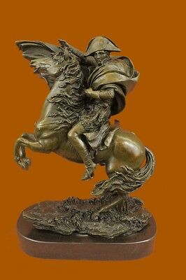 Statue Sculpture Horse Napoleon French Style Bronze Signed Marble Base Figurine
