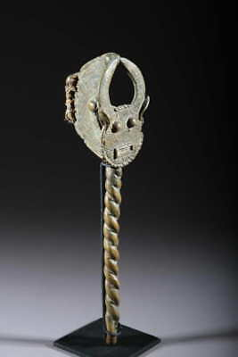 Art African Hammer Gong Baoulé Bronze