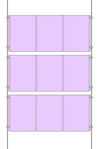 A4 Portrait Triple 3x3 Estate Agent Style Window Cable Wire Shop Display Kit